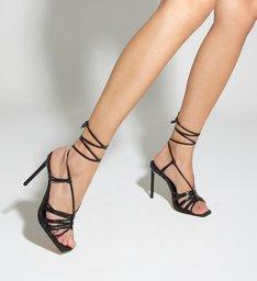 Sandália MultiStrings Lace-Up Black