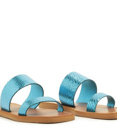 SLIDE TIRAS DUPLAS BRIGHT SNAKE BLUE