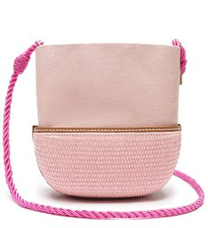 VALLIE BUCKET BAG RAFIA PINK