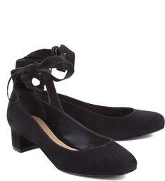 Scarpin Ballerina Block Heel Black