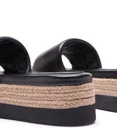 Slide Flatform Natural Black