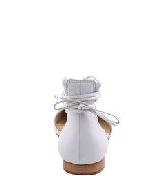 Sapatilha Bico Fino Lace Up Pearl
