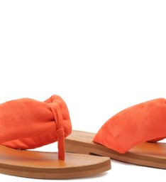 FLAT SLIDE FLIP-FLOP ANA SUEDE ORANGE