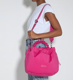 Bolsa Shopping Grande Lolla Nylon Pink