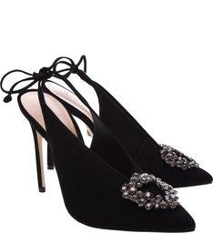 Scarpin Slingback Glam Black
