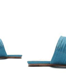 Sandália Rasteira Glam Bright Azul