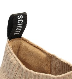 Tênis Slip On Mauli Knit Bege