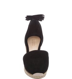 Espadrille Lace Up Black