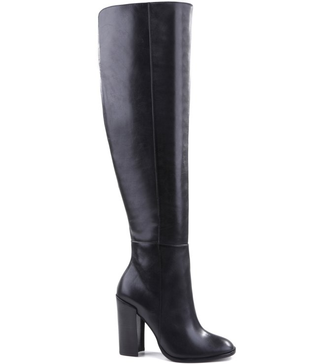 Over The Knee Minimal Chic Boot Black