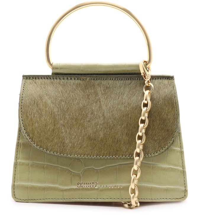 Mini Crossbody Lee Croco Soft Grass