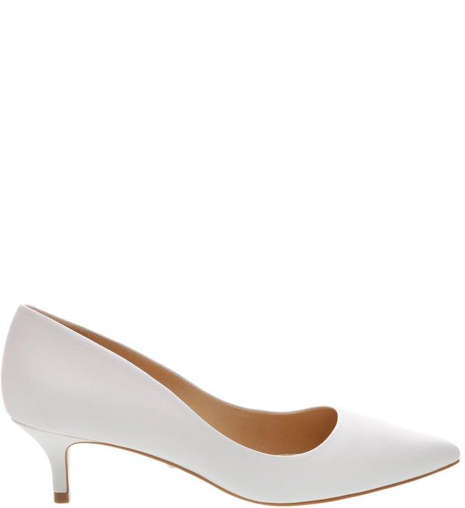 Scarpin Kitten Heel White