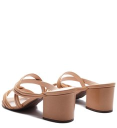 Mule Block Heel Honey
