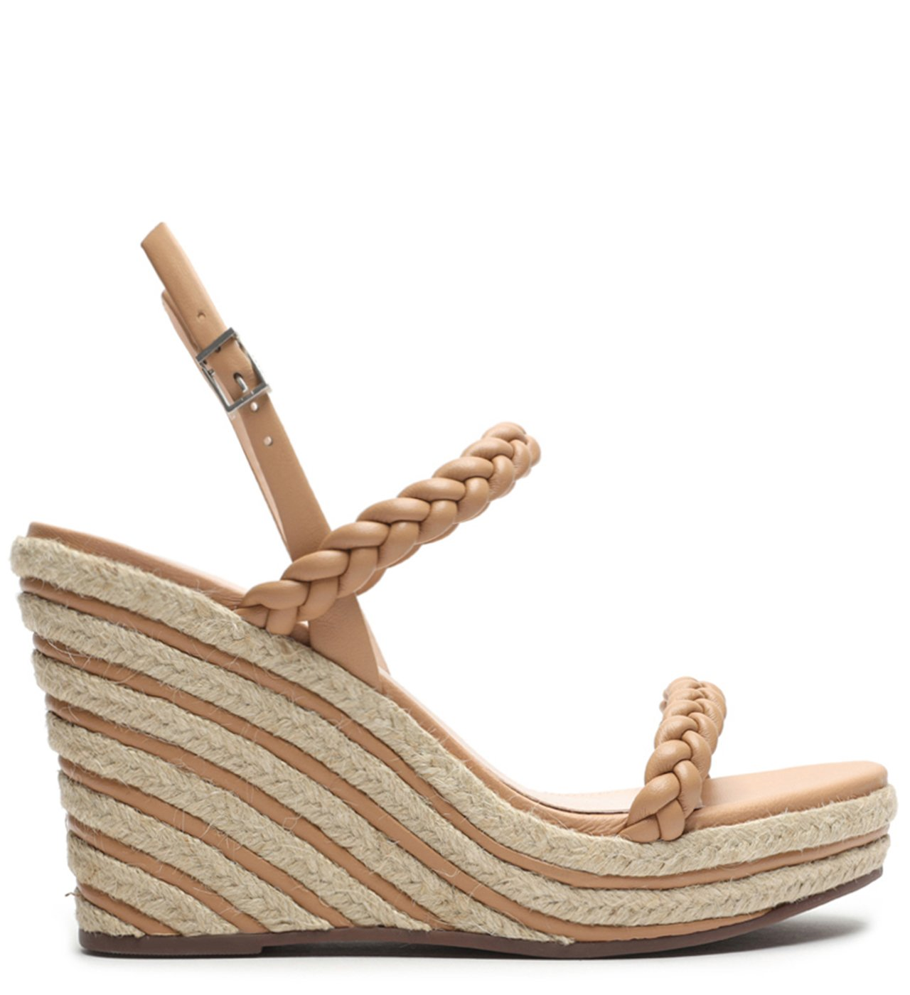 Sandália Anabela Braid Corda Honey | Schutz