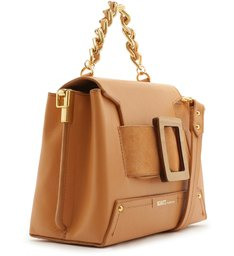 SATCHEL BAG BUCKLE WOOD TOASTY