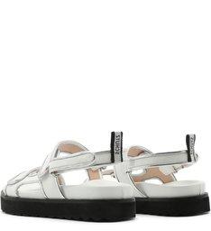 Sporty Sandal Utility White & Silver