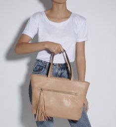 SHOPPING BAG LOUISE HONEY