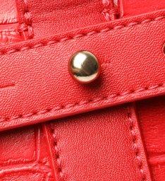 Bolsa Tote Grande Mila Croco Vermelha