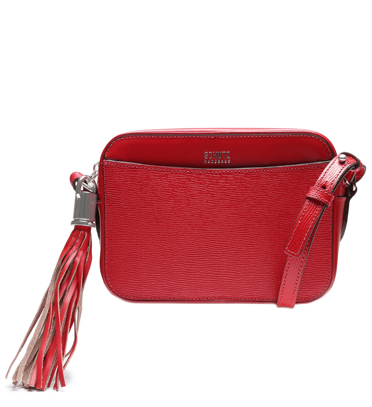 Crossbody Box Tassel Red | Schutz