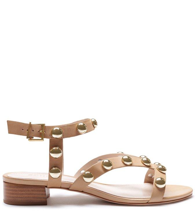 Sandália New Block Heel Studs Honey | Schutz