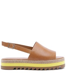 SANDÁLIA FLATFORM SPORTY COVER UP CARAMEL