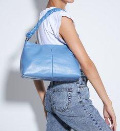 Bolsa Média Jenna Couro Azul