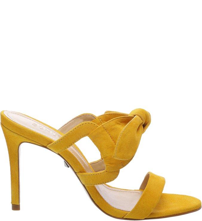 Sandália Mule Nobuck Laço Yellow