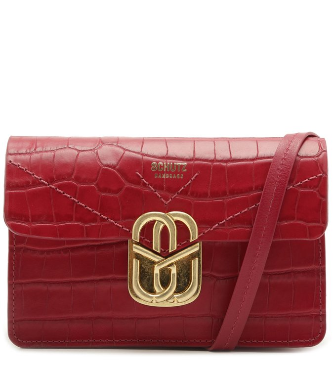 Crossbody Pochete Penelope Croco Red | Schutz