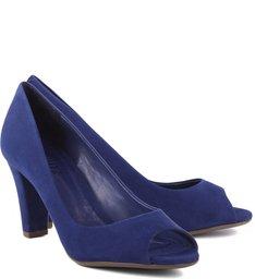 Peep Toe Dress Blue
