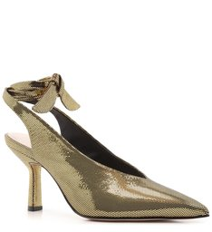 SCARPIN LACE-UP METALLIC GOLD