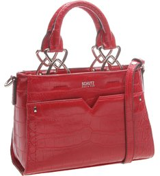 Mini Tote Croco Red