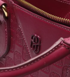 Bolsa Tote Grande Emblem Couro Pink