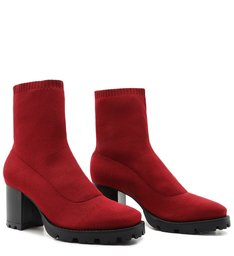 SOCK BOOT KNIT RED