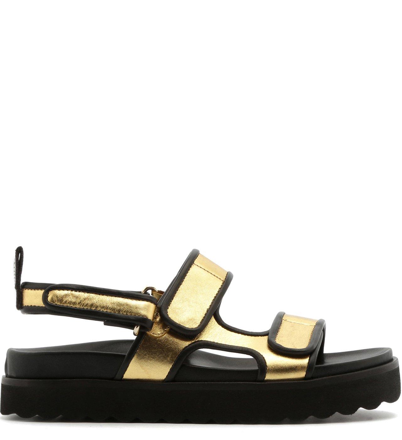 Sporty Sandal Utility Gold   Schutz