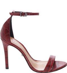 Sandália Gisele Croco Red