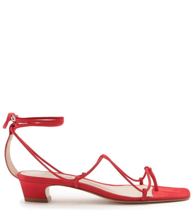 SANDÁLIA LACE-UP MICRO HEEL RED
