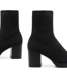 Sock Boot Knit Black