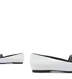 Loafer Crystal Glam Verniz White