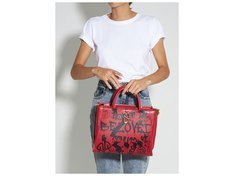 Tote A to Z Street Red