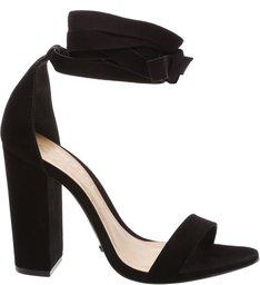Sandália Block Heel Lace Up Black