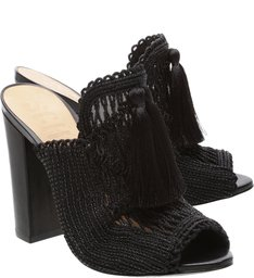 Mule Embroidery Black