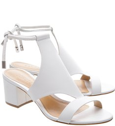Sandália Block Heel Cover Up White