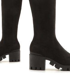 Bota Over The Knee Tratorada Black