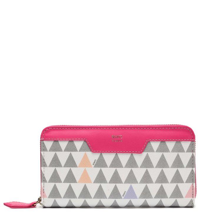 Carteira Feminina Grande Triangle Pink