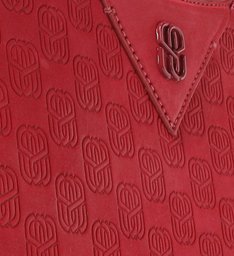 Bolsa Tiracolo Emblem Karen Vermelha