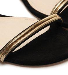 Sandália Rasteira Minimal Glam Black