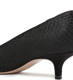 Sapato Scarpin Salto Kitten Couro Preto