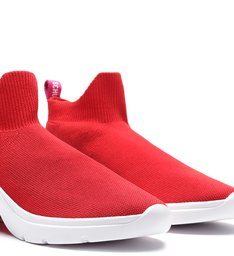 Tênis The Duo Knit Bright Red