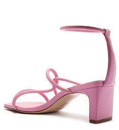 Sandália Salto Baixo Entrelaçada Rosa
