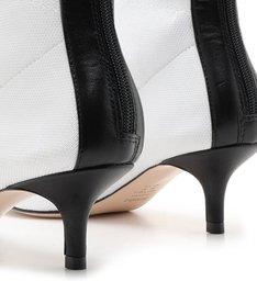 Sock Boot Kitten Heel White