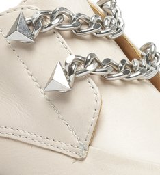 Sapato Oxford Tratorado Corrente Creme